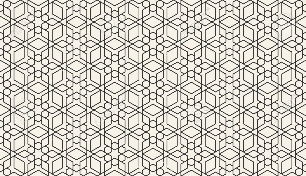 Arabic Wallpaper Pattern Eastern Pattern Vector Illustration