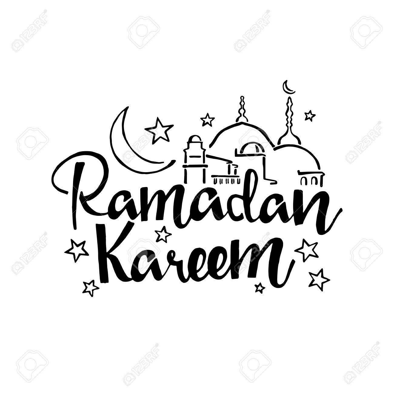Ramadan Kareem Handwritten Lettering. Modern Calligraphy. Vector ... for Ramadan Kareem Transparent  104xkb