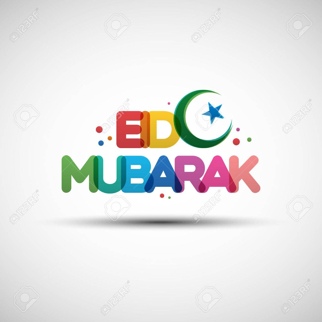 Vector illustration of eid mubarak greeting card design with vector vector illustration of eid mubarak greeting card design with creative multicolored transparent text for holy month of muslim community ramadan m4hsunfo