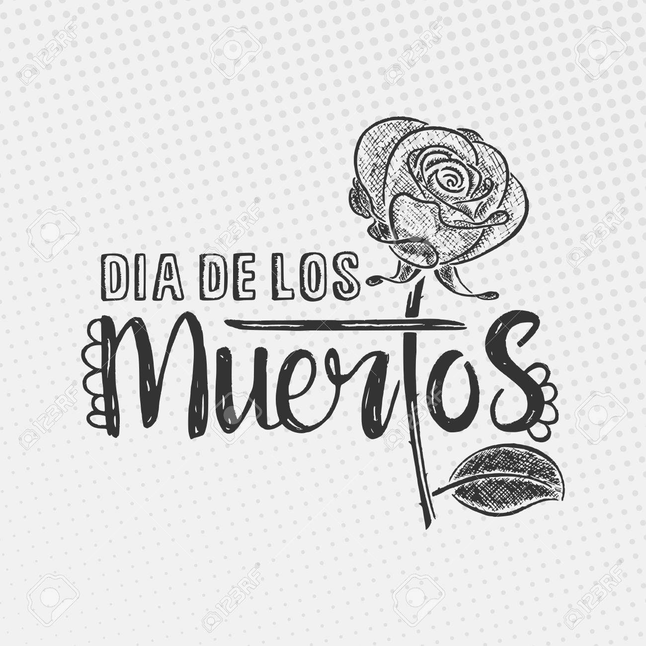 Dia de los muertos lettering day of the dead modern hand drawn day of the dead modern hand drawn calligraphy with m4hsunfo