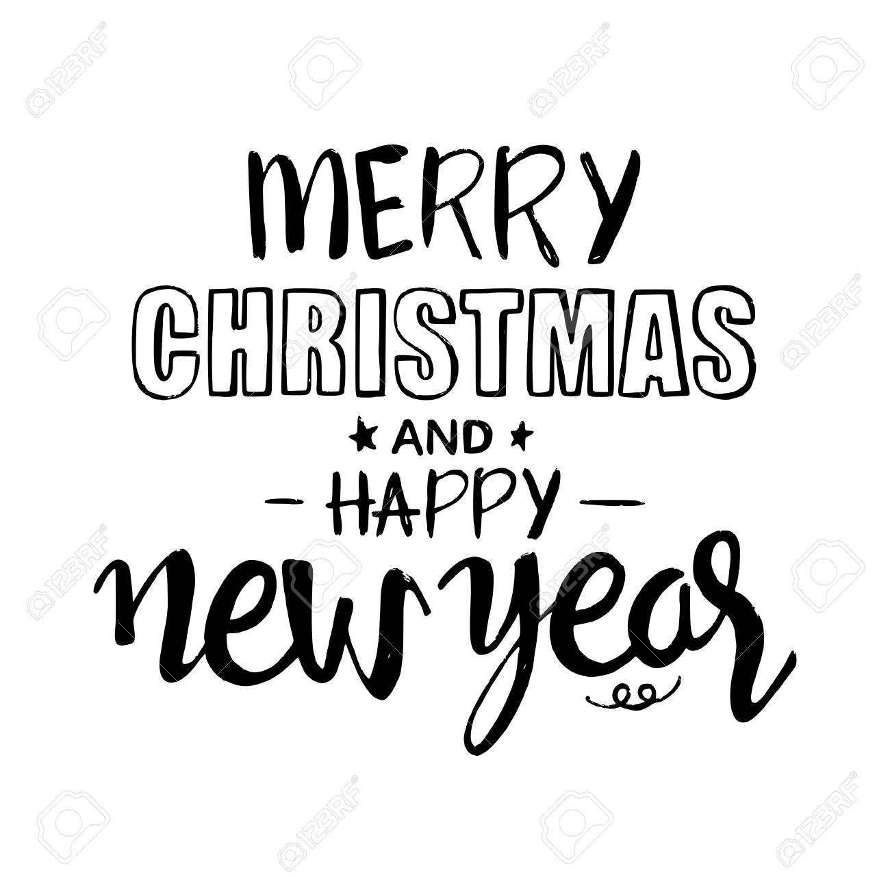 merry christmas and happy new year lettering modern hand drawn royalty free cliparts vectors and stock illustration image 64208455 merry christmas and happy new year lettering modern hand drawn