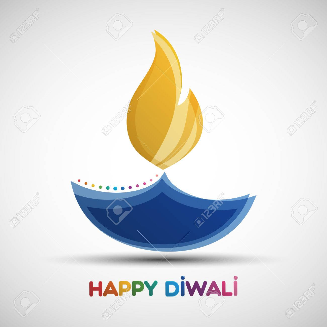 Happy Diwali Abstract Background Festival Of Lights Deepavali