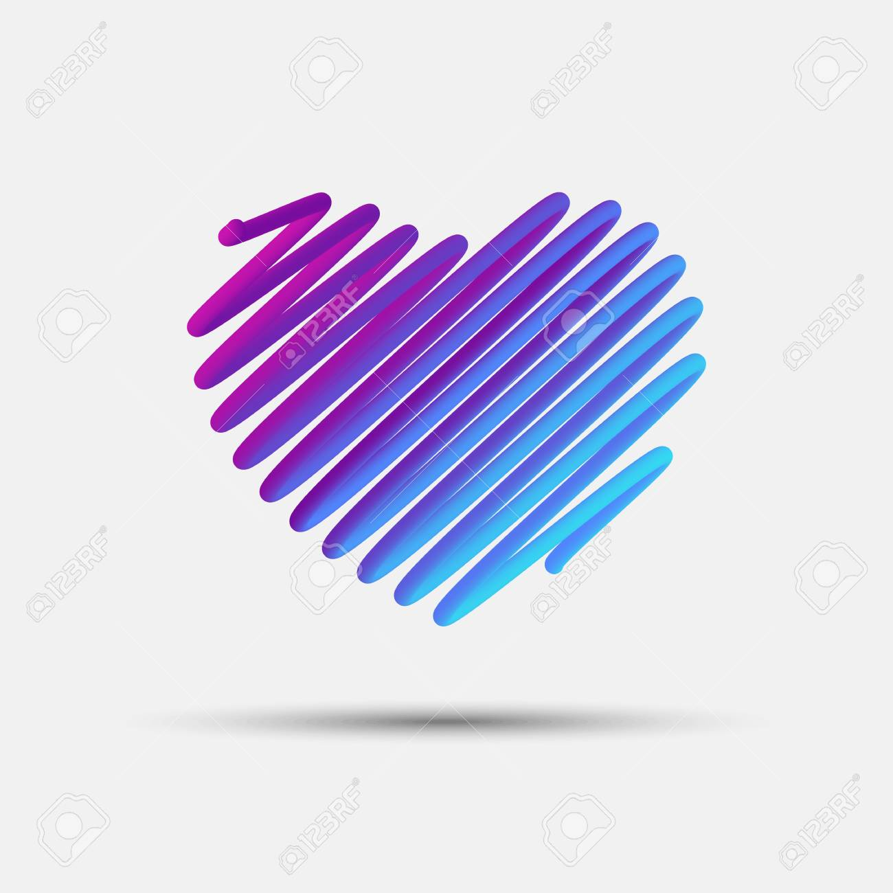 Heart Blended Interlaced Creative Line Icon Symbol Of Love