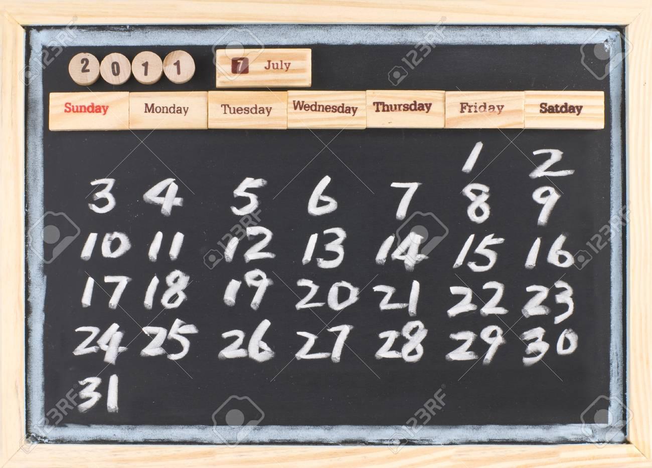 Calendario Julio Del 2000.Mano Dibujo Calendario De Julio De 2011 Calendario Mensual De 2011