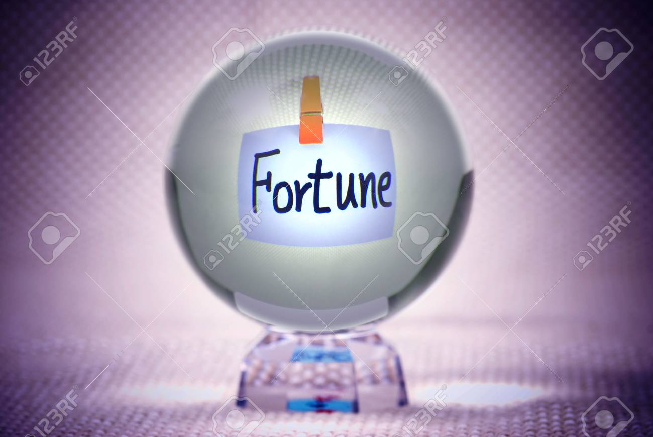 Fortune, words show in magic crystal ball Stock Photo - 9453768