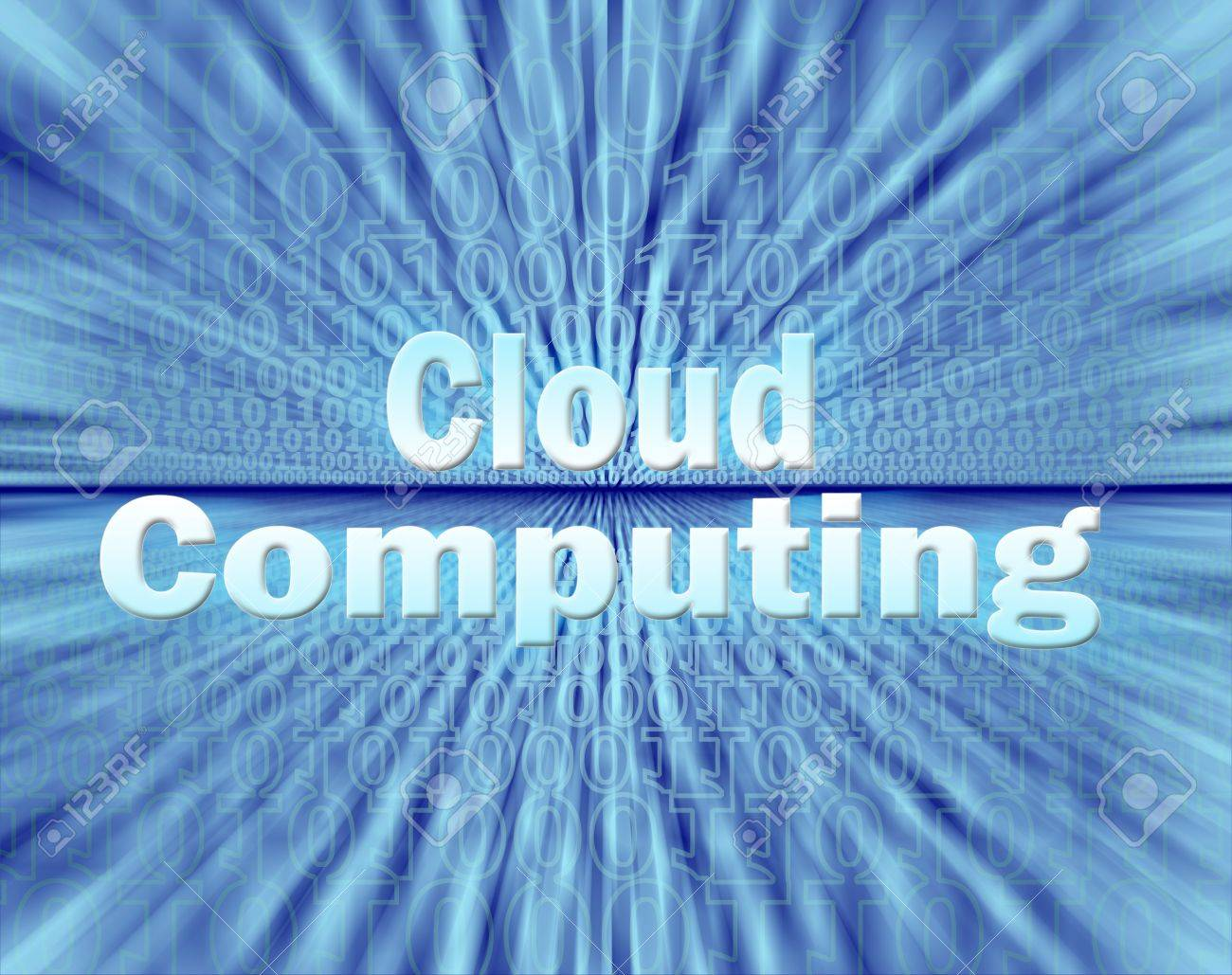 Cloud computing concept in virtual information stream Stock Photo - 12859402
