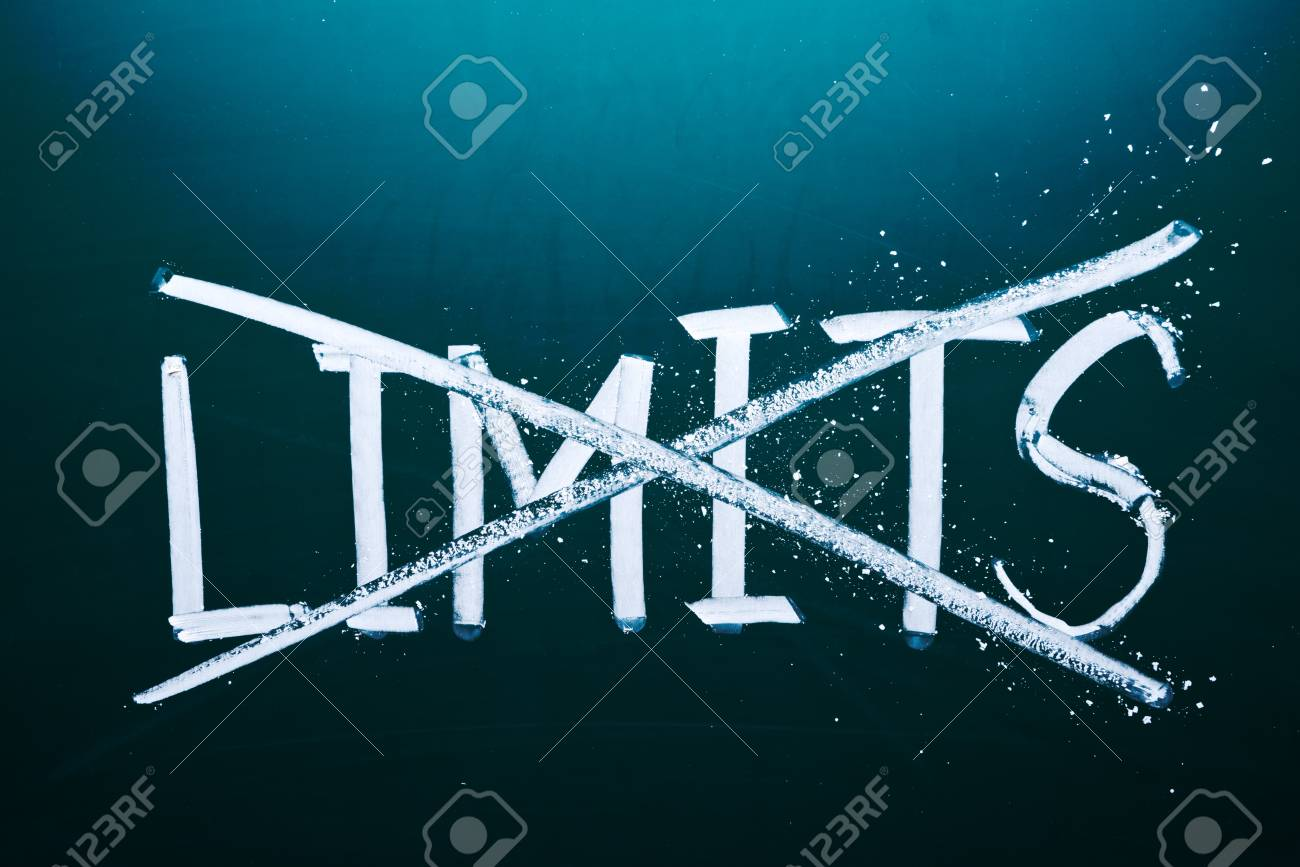break the limits concept, words on grunge board. Stock Photo - 17478327