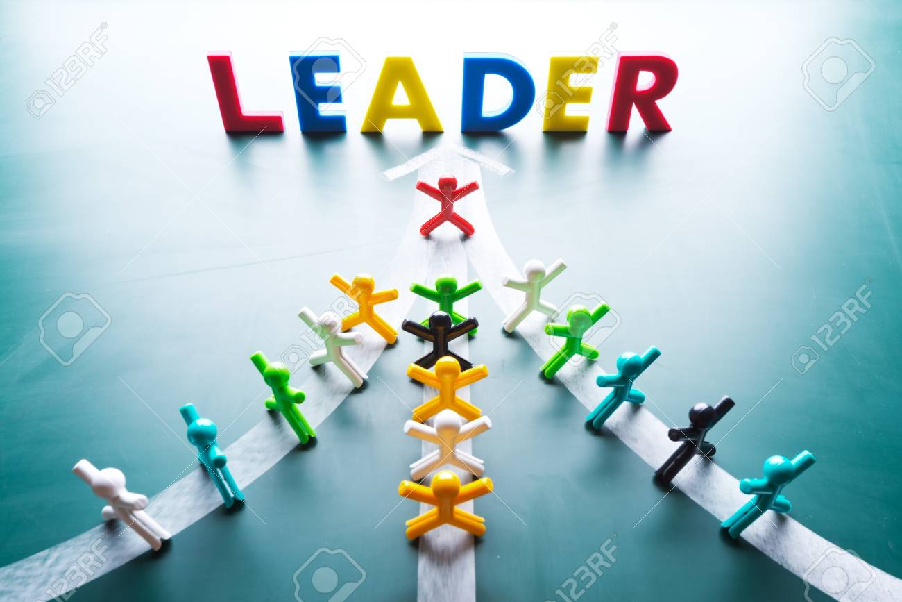 Leadership concept, group people go to thes ame direction Stock Photo - 18254012
