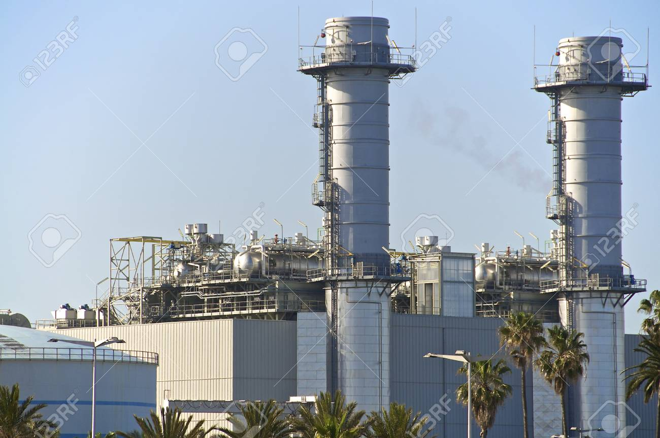 North of Barcelona  The new power plant Stock Photo - 13386245