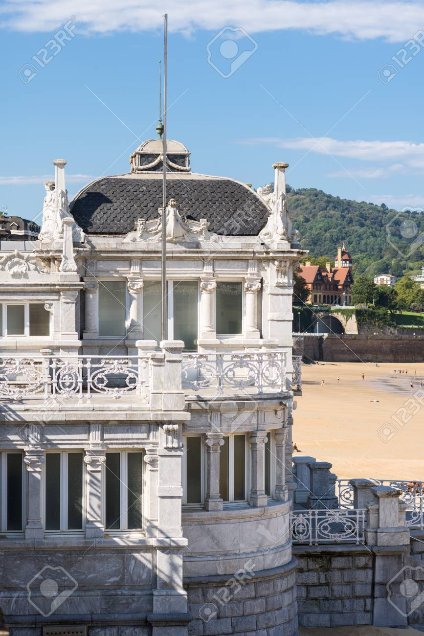 Banos San Sebastian.The Royal Bathhouse Real Casa De Banos At The La Concha Bay And