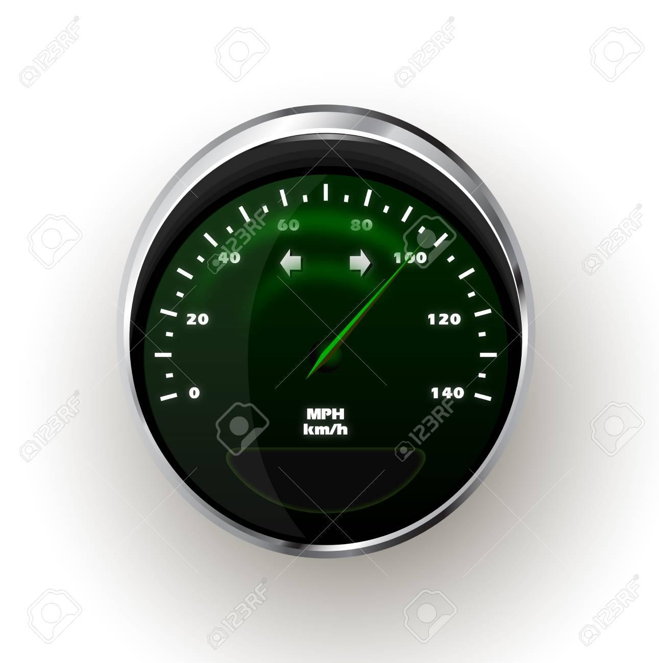realistic Speedometer Stock Vector - 14632005