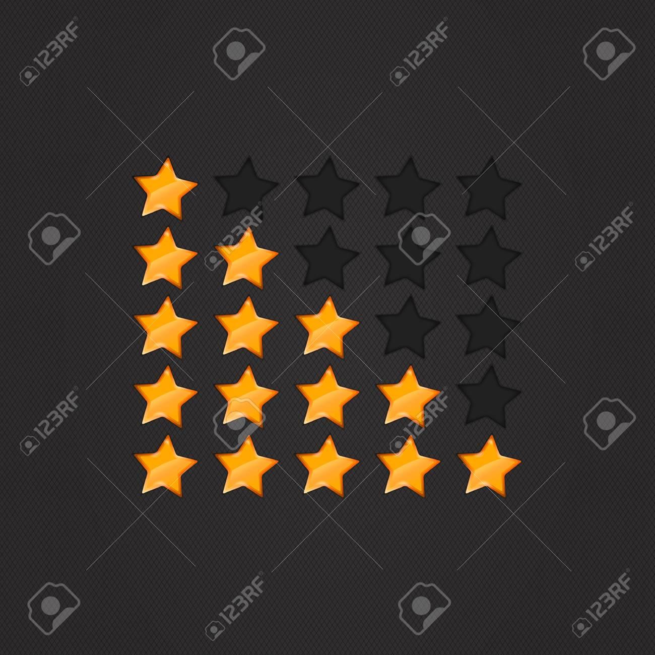 Glossy Rating Stars orange for web. vector illustration, eps10 Stock Vector - 14792273