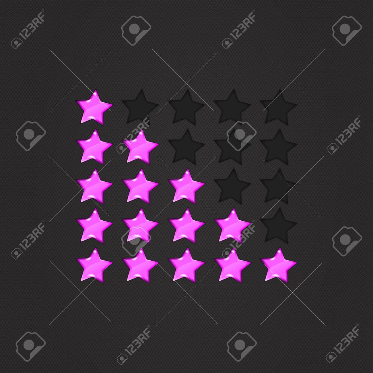 Glossy Rating Stars violet for web. vector illustration, eps10 Stock Vector - 14792268