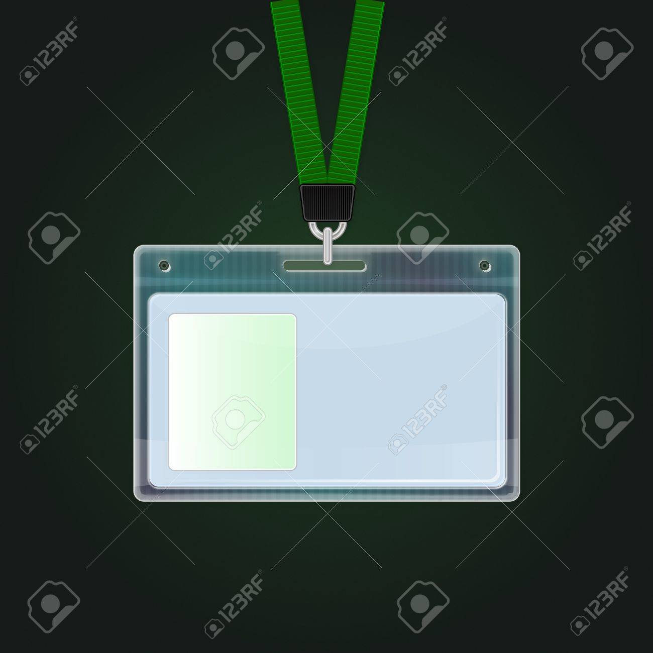 Plastic Id Badge Identification Card Icon Identification Cards Template