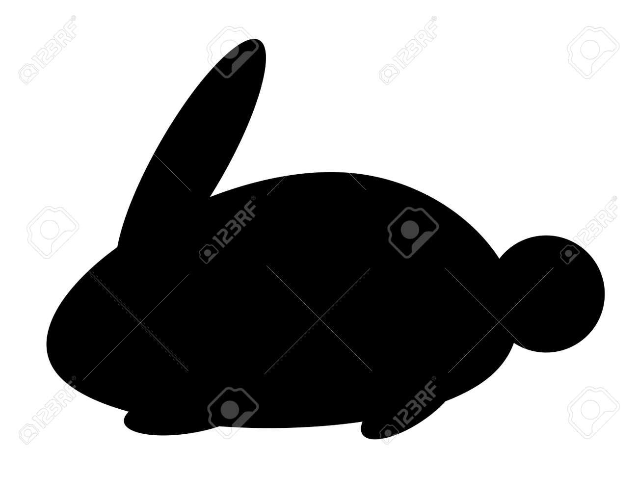 Rabbit silhouette - 156589710