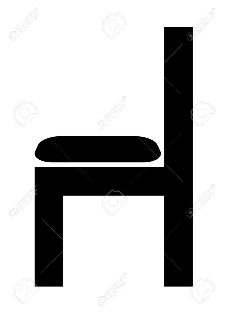 Chair silhouette - 157730572