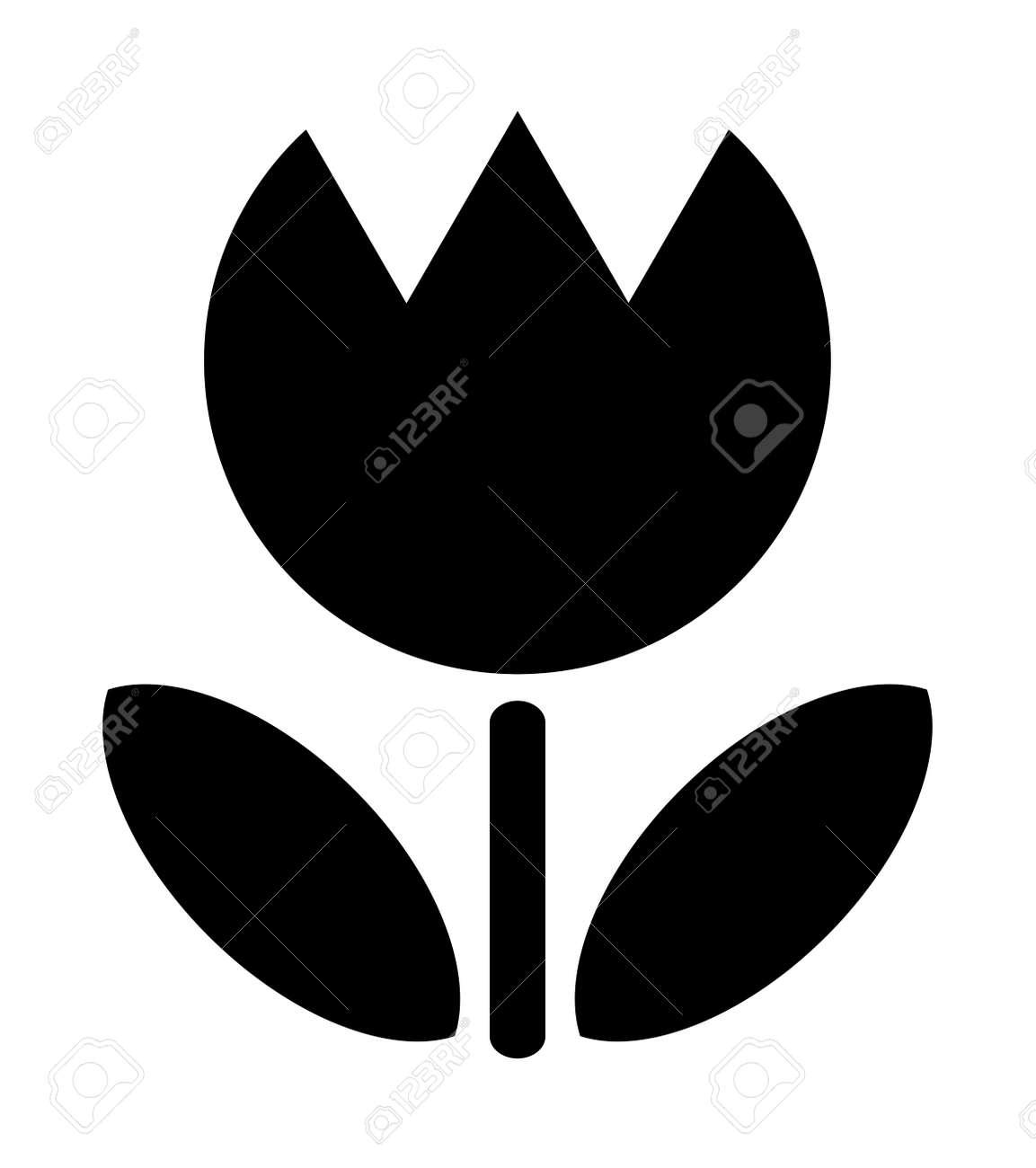 Tulip silhouette - 159994534
