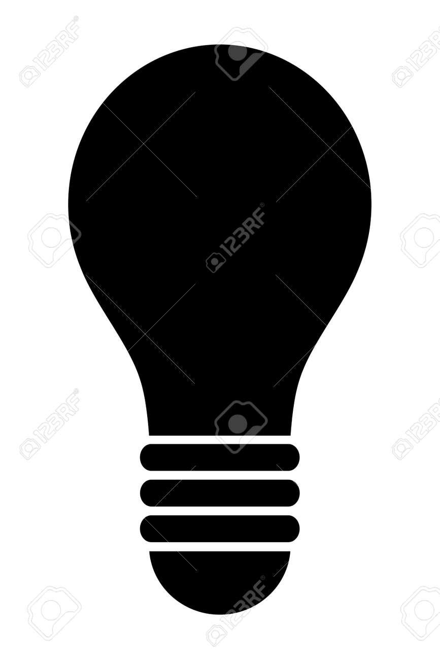 Light bulb silhouette - 158969655