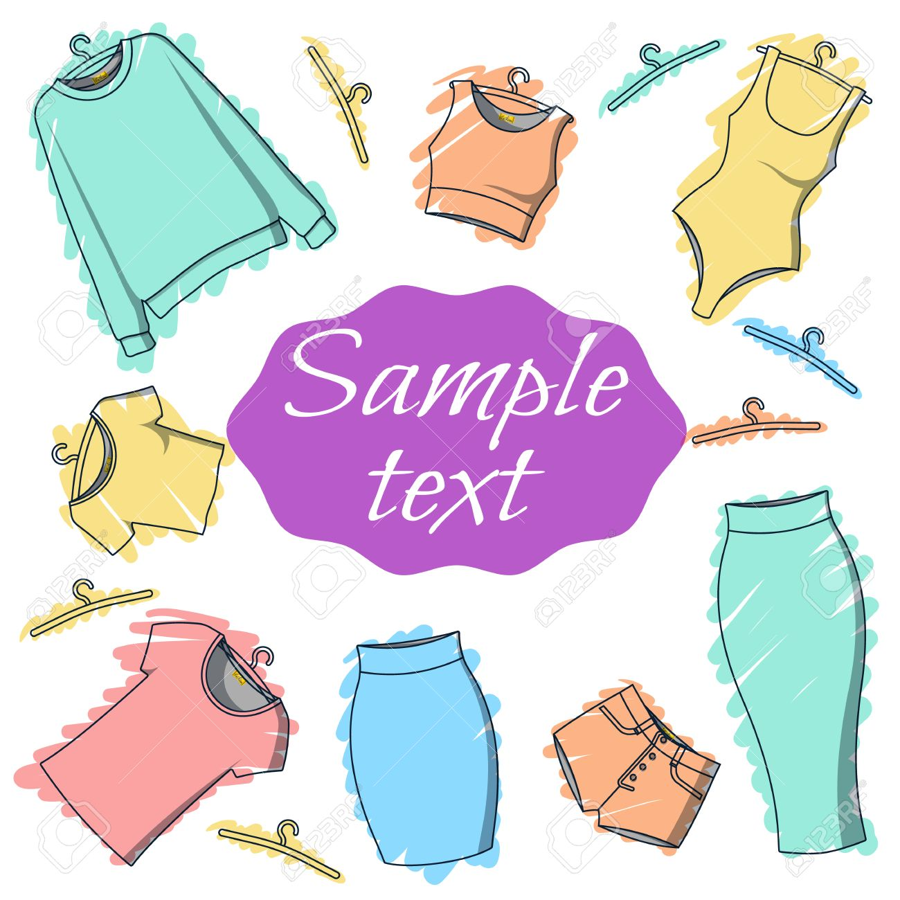Background Clothes For Design Of Printed Materials Postcard Royalty Free Cliparts Vectors And Stock Illustration Image 43412577
