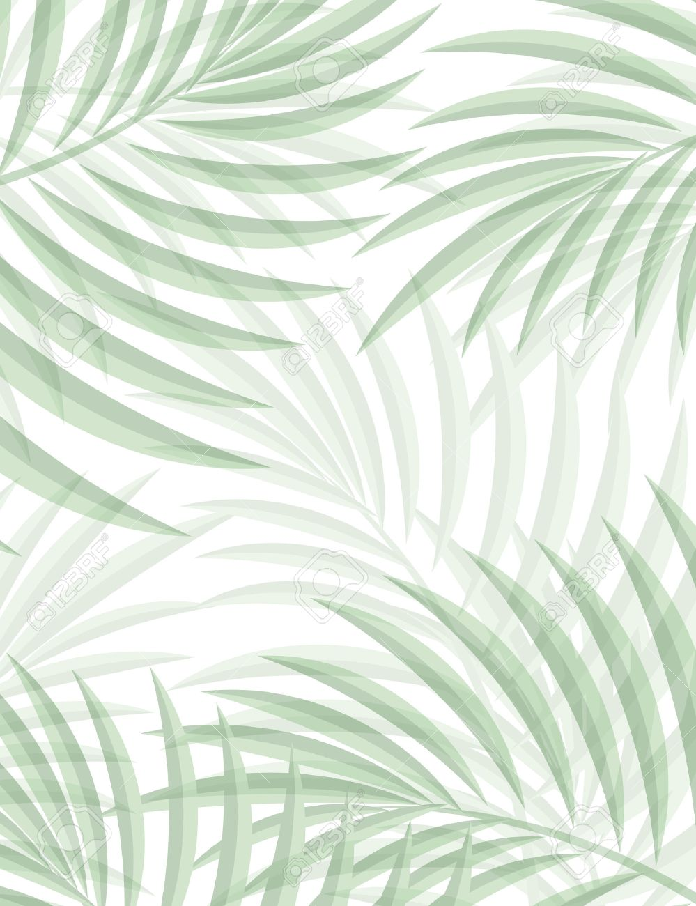 Exotic Background With Palm Leaves For Design In Hipster Style The