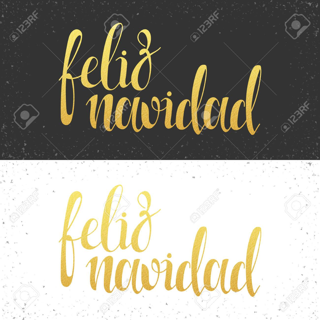 Merry christmas card with greetings in spanish language feliz merry christmas card with greetings in spanish language feliz navidad calligraphy for design greeting kristyandbryce Images