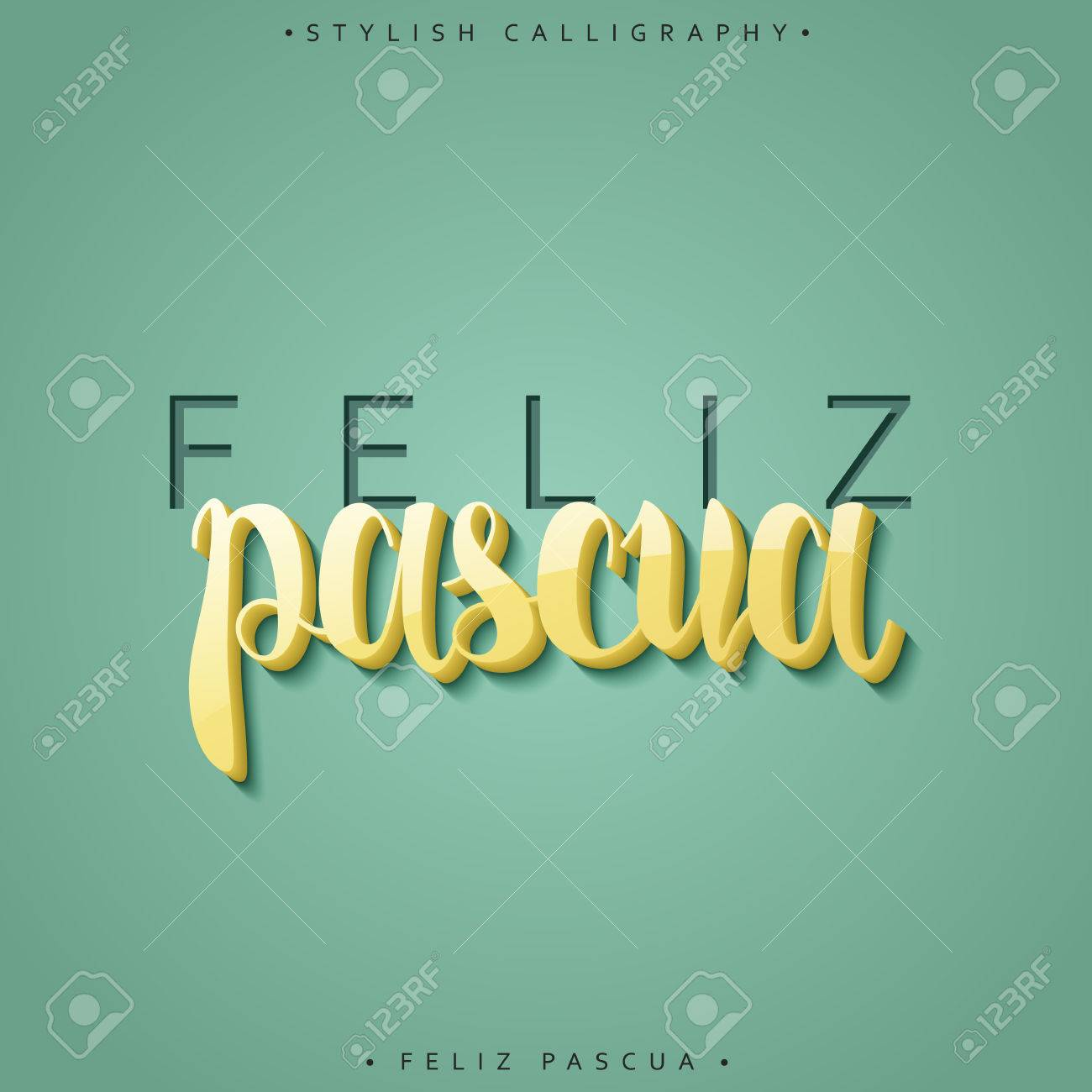 Feliz pascua greeting inscription happy easter in spanish in greeting inscription happy easter in spanish in 3d holiday card with the kristyandbryce Images