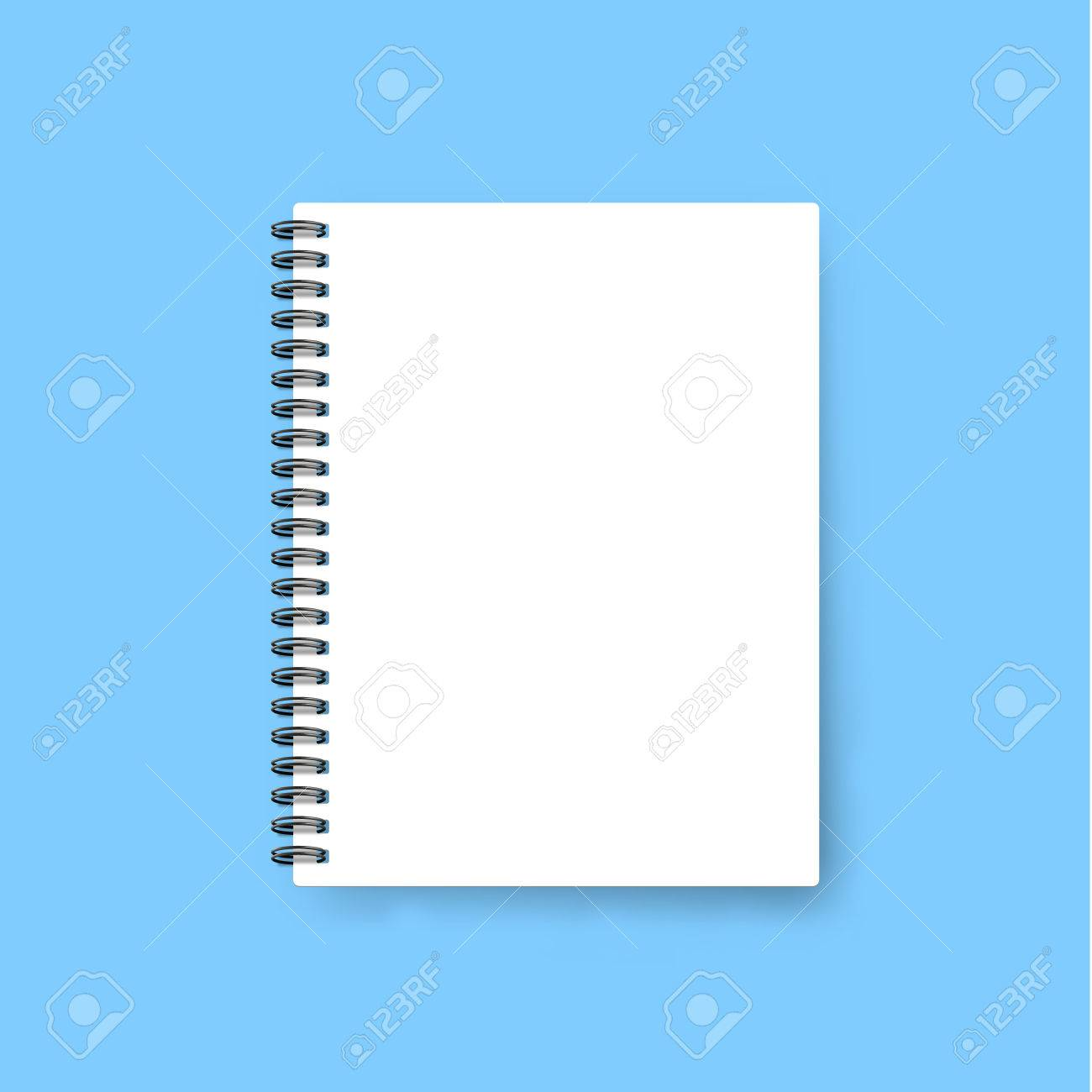 Realistic Notebook . Template Notebook. Blank Cover Design. Mock ...