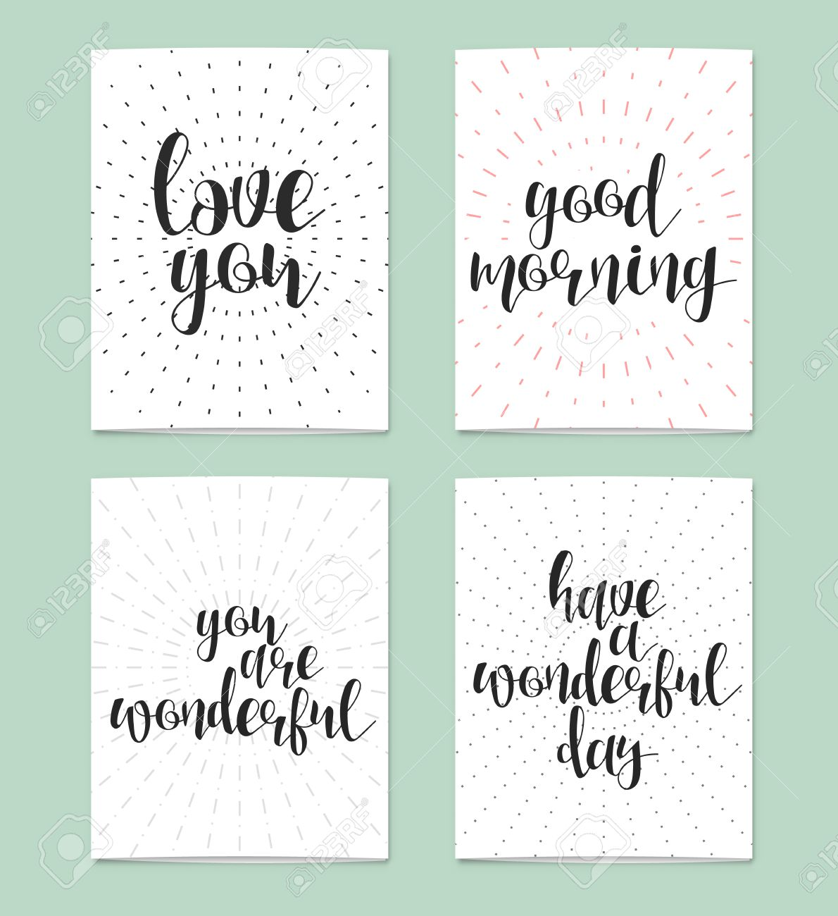 Realistic Blank Card For Design Love You Good Morning You