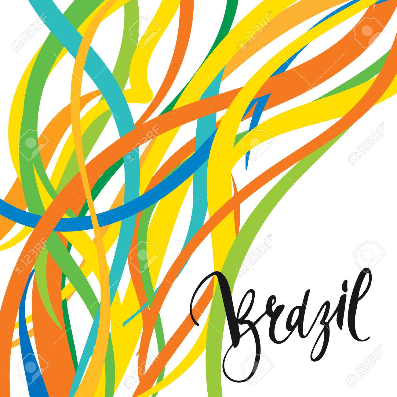 Handmade watercolor brazil flag brasil stock photos freeimages com - Inscription Brazil Background Colors Of The Brazilian Flag Calligraphy Handmade Greeting Cards Posters