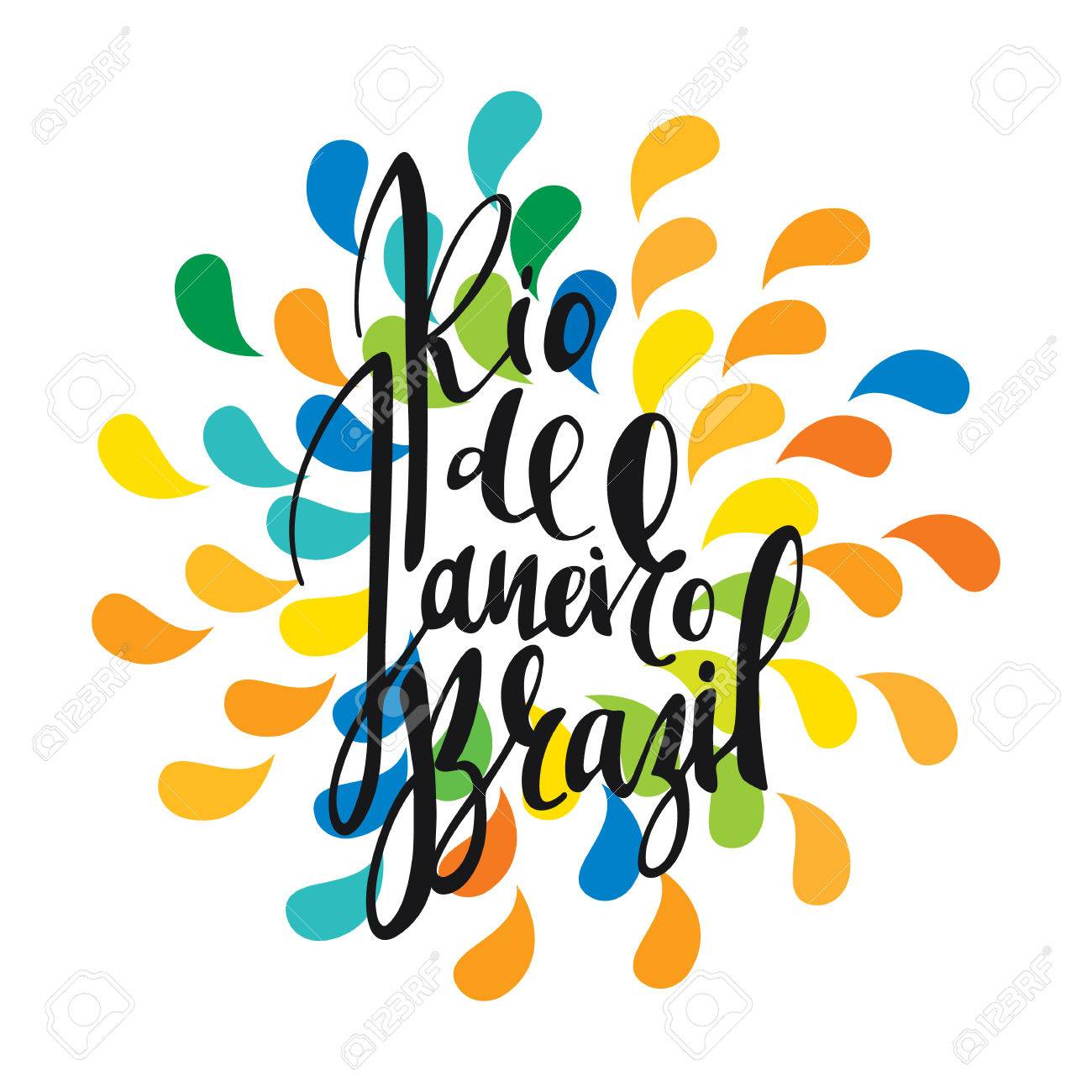 Inscription rio de janeiro brazil background colors of the inscription rio de janeiro brazil background colors of the brazilian flag calligraphy handmade greeting m4hsunfo