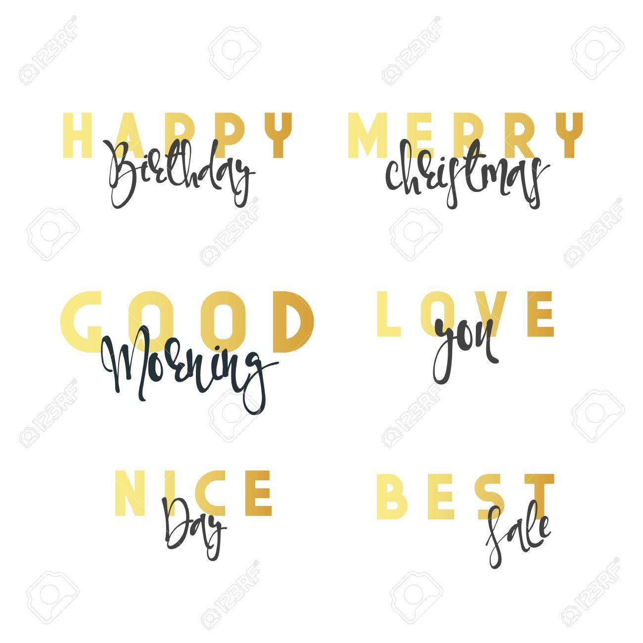 Inscriptions Faits à La Main Calligraphie Lettrage Bon Anniversaire Joyeux Noël Bonjour Je Taime Belle Journée Meilleure Vente