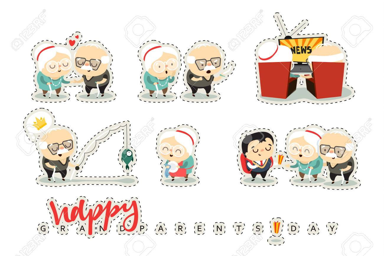 Characters elderly grandparents doodle cute people isolated characters elderly grandparents doodle cute people isolated national grandparents day concept for kristyandbryce Choice Image