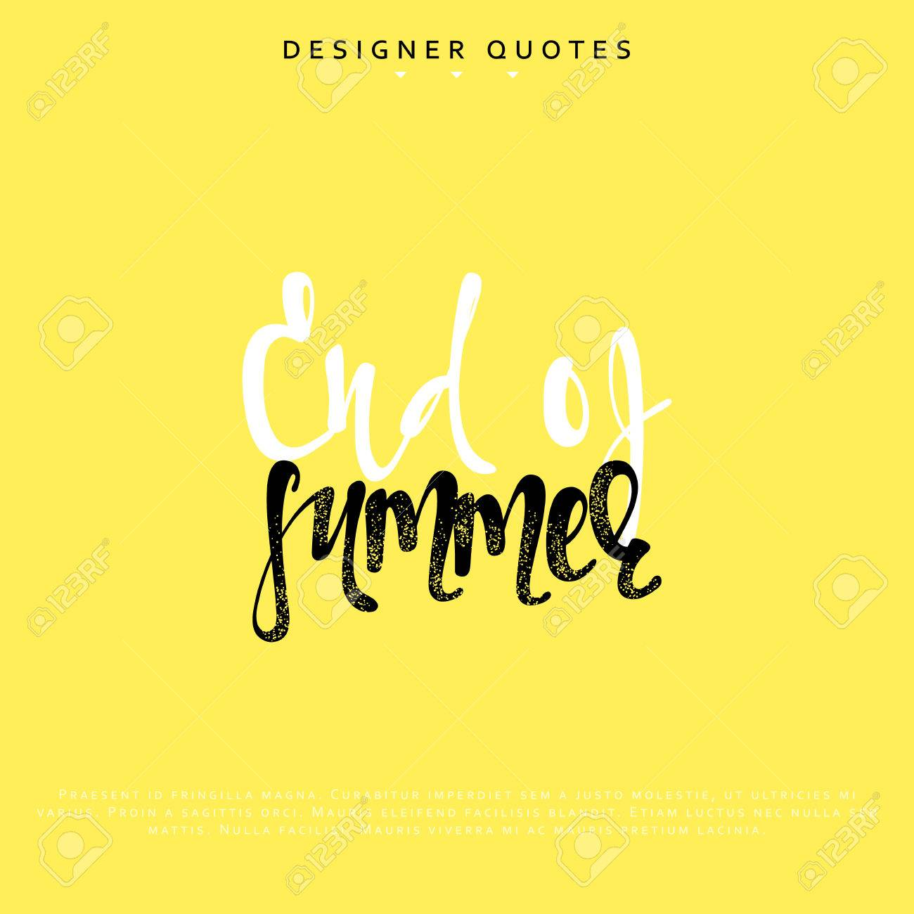 End Of Summer Inscription Hand Drawn Calligraphy Lettering Motivation Poster Modern Brush Calligraphy Isolated Phrase Vector Illustration
