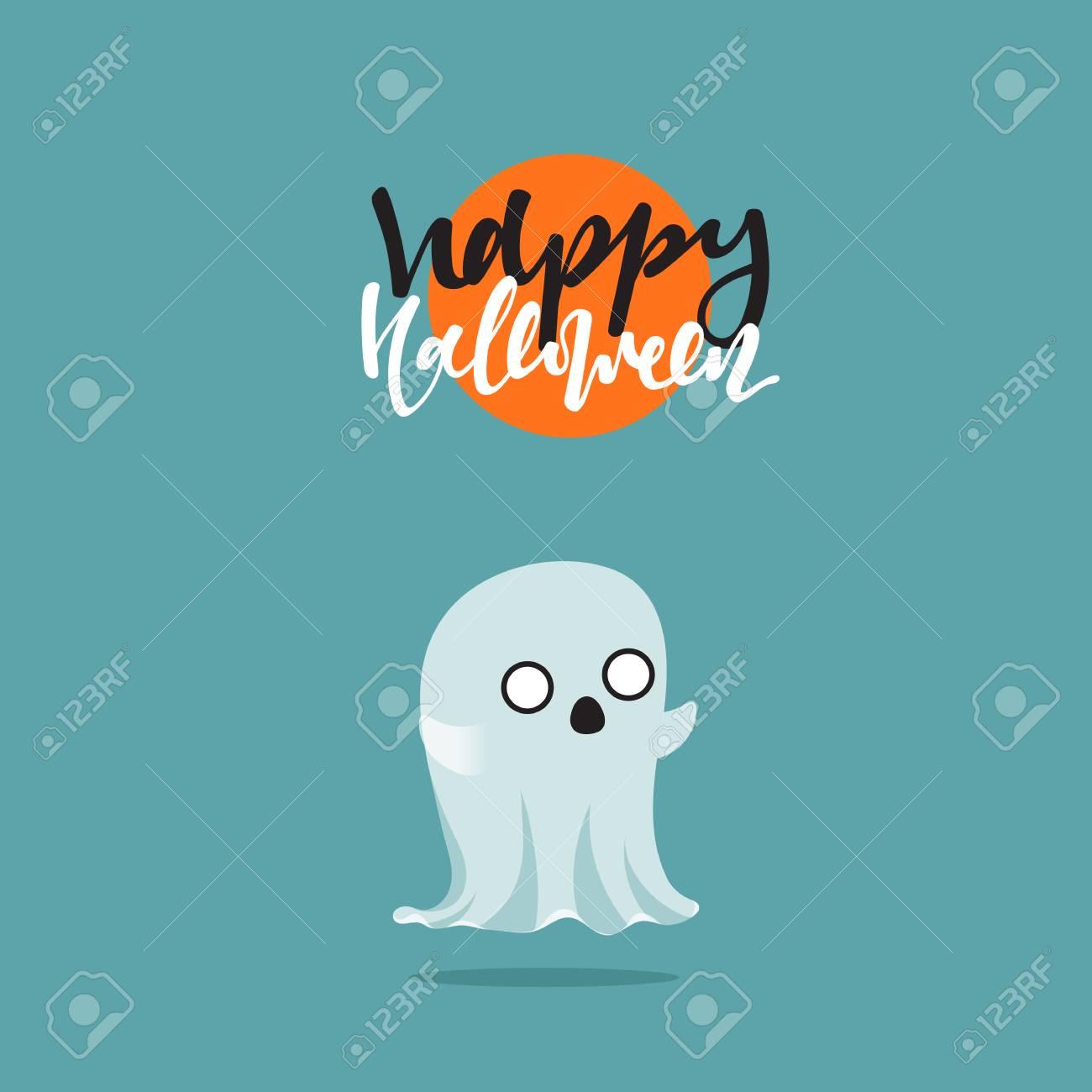Halloween Geist Lustige Comic Figuren Doodle Niedlichen Figuren