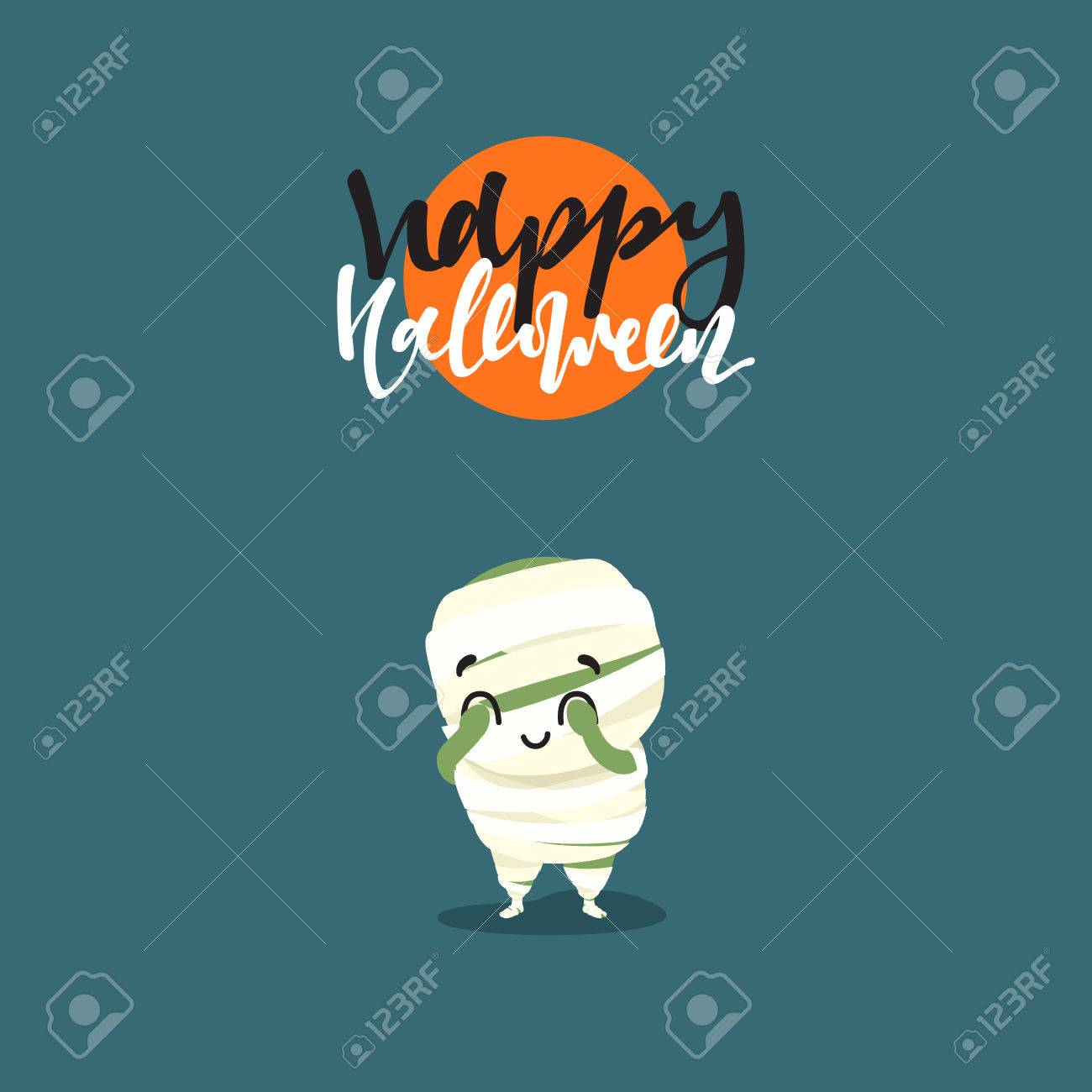 Holiday Happy Halloween. Funny Doodle Characters. Cute Cartoon ...