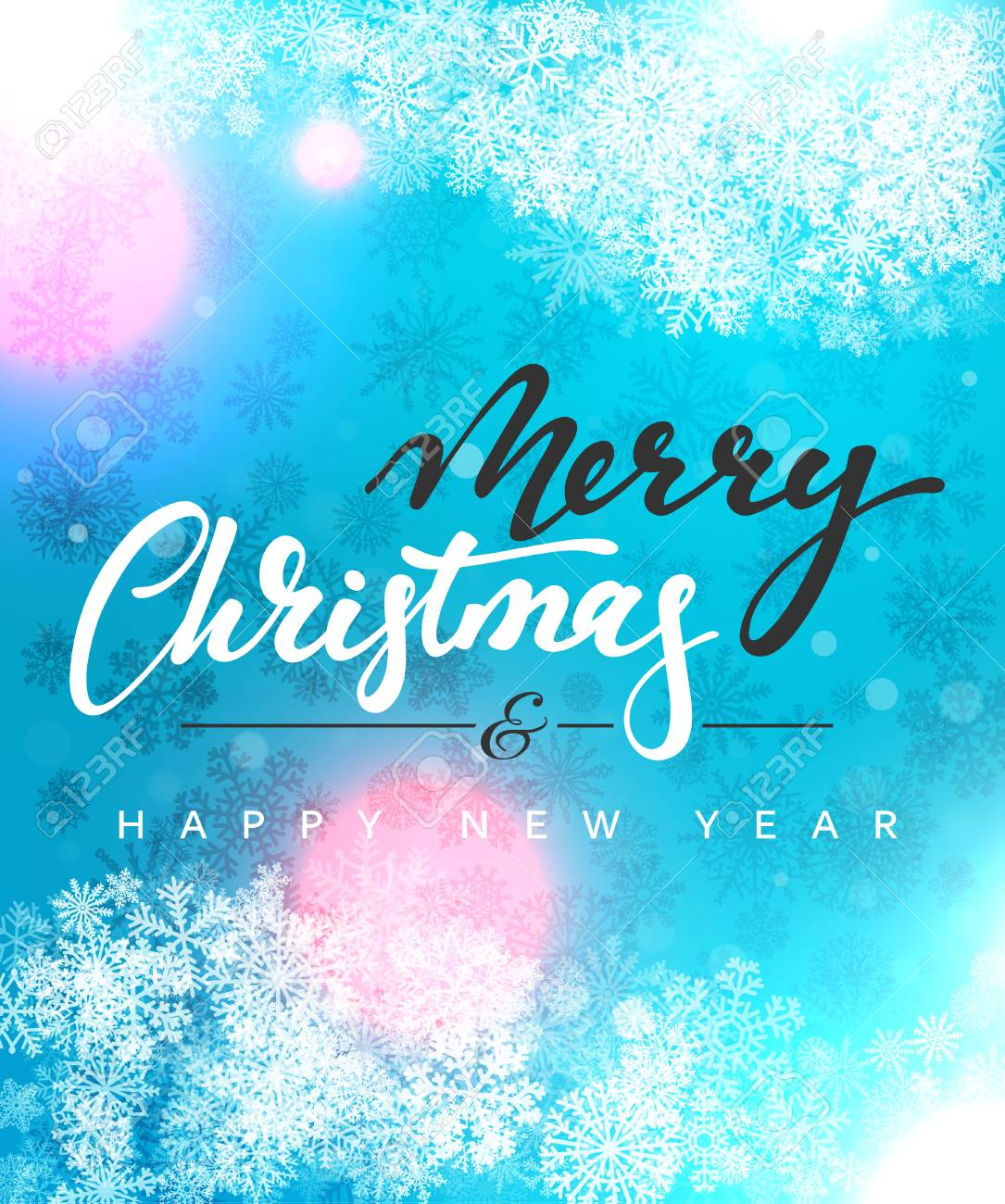 merry christmas and happy new year concept greeting card design postcard background for print or