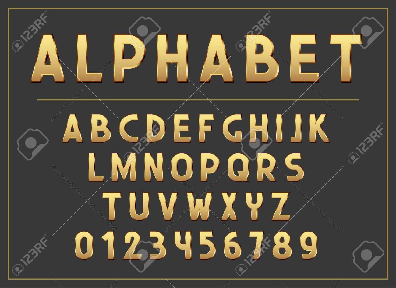 Lettre Alphabet Lettres Et Lettres Abc Imprimer Typographie Vector Illustration Police De Type Rétro Alphabet Vintage