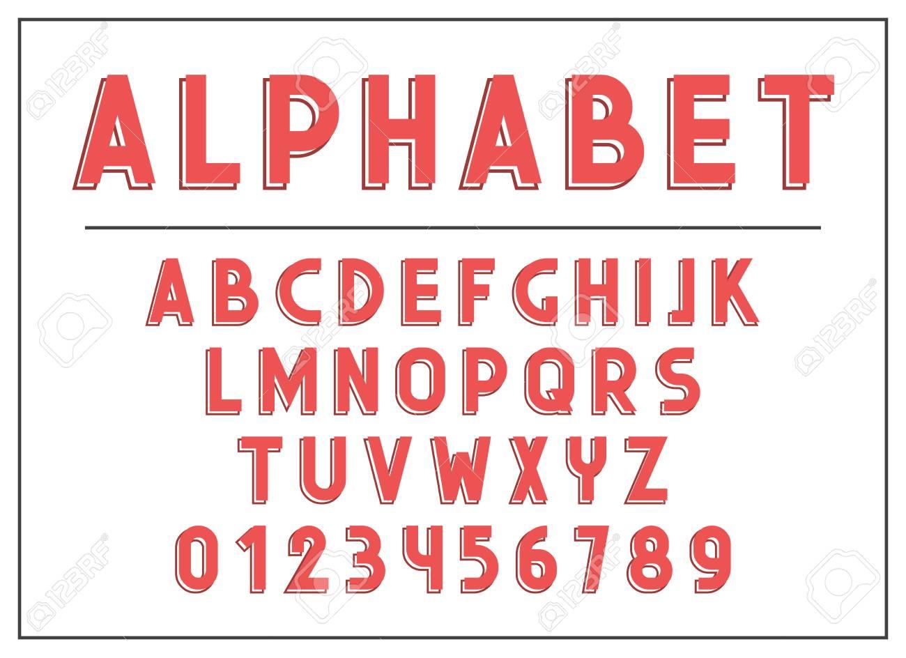 Lettre Alphabet Caractères Et Lettres Abc Imprimer Typographie Illustration Police De Type Rétro Alphabet Vintage