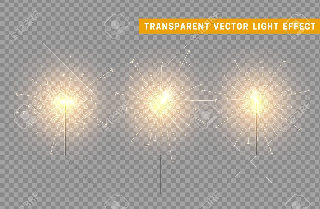 Feestelijke Kerst Sparkler Decoratie Verlichting Element. Sterretje ...