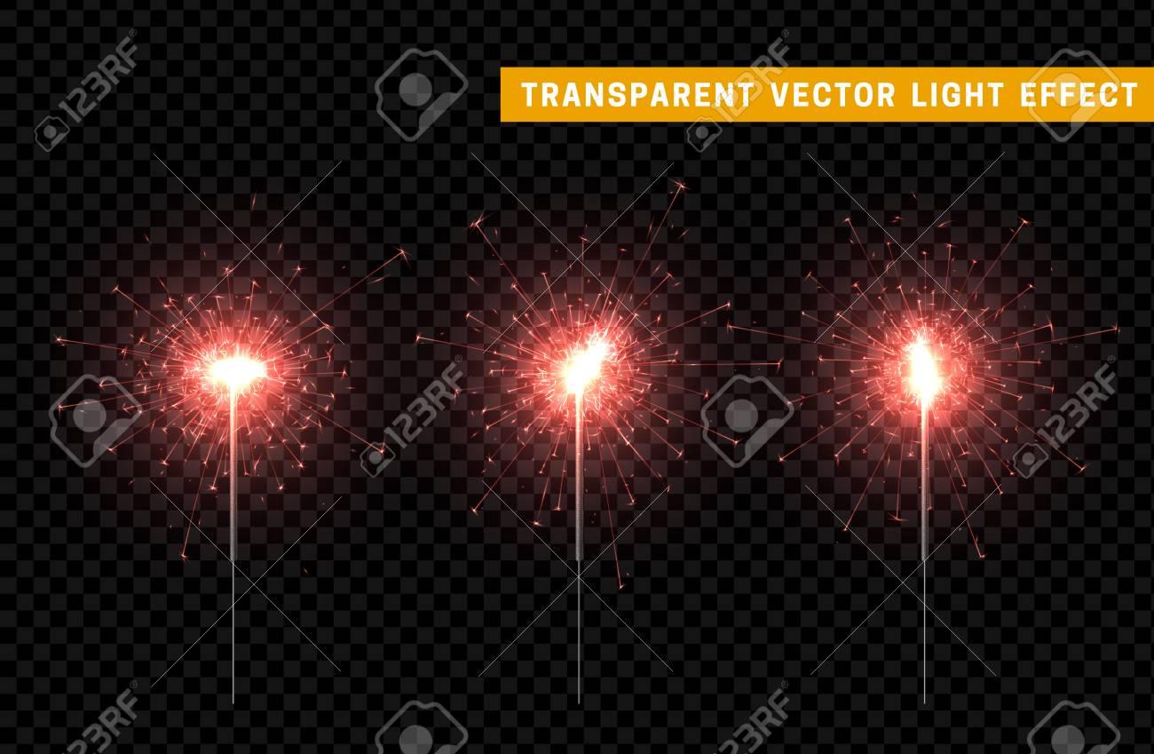 Festive Christmas sparkler decoration lighting element. Sparkler vector firework. Magic light isolated effect. & Festive Christmas Sparkler Decoration Lighting Element. Sparkler ...