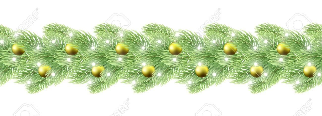 Vettoriale Decorazioni Di Natale Ghirlanda Senza Soluzione Di