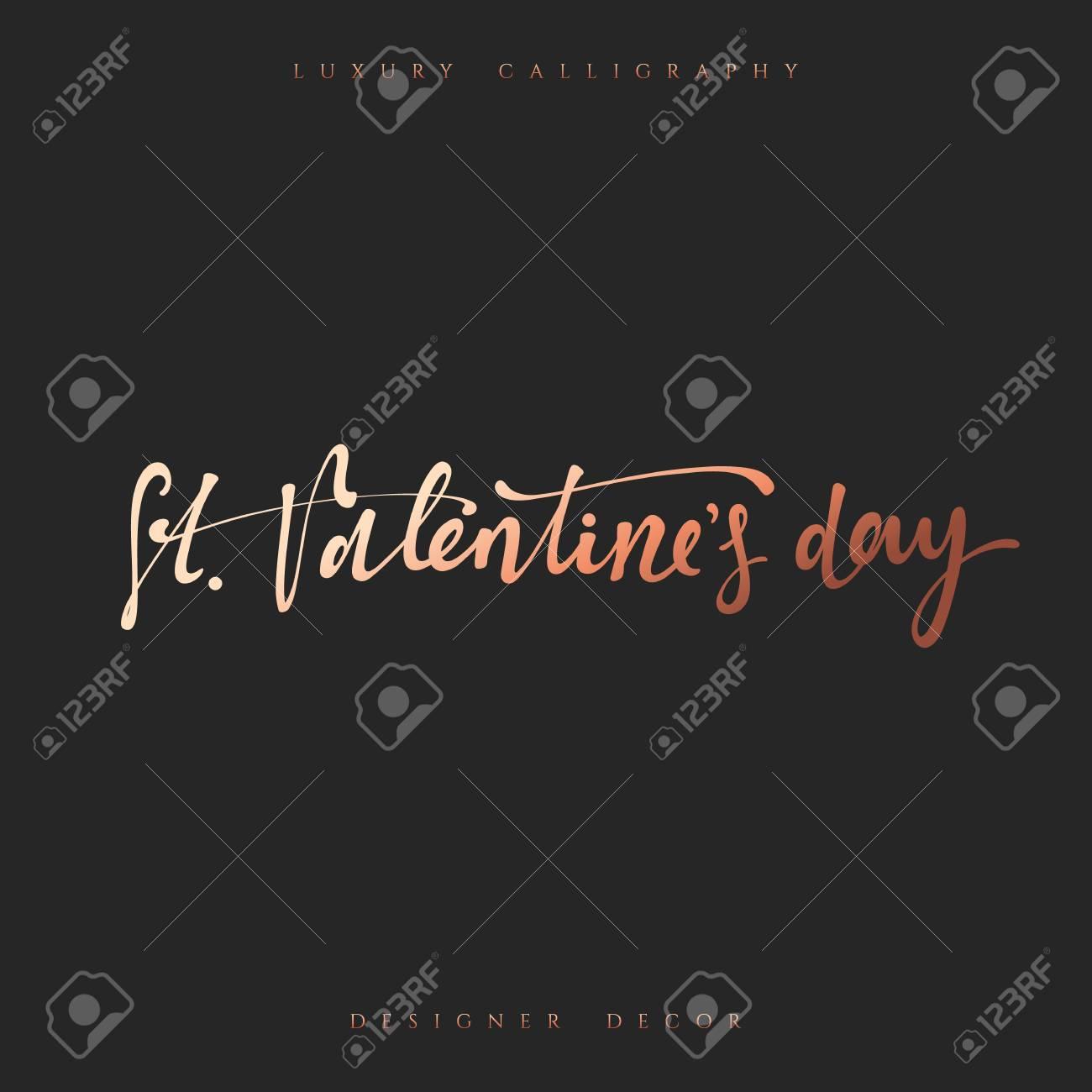 Feliz Dia Dos Namorados Letras Inscrição Artesanais Caligrafia Elegante Moderna E De Luxo Frase Para Design De Brochuras Cartazes Bandeiras