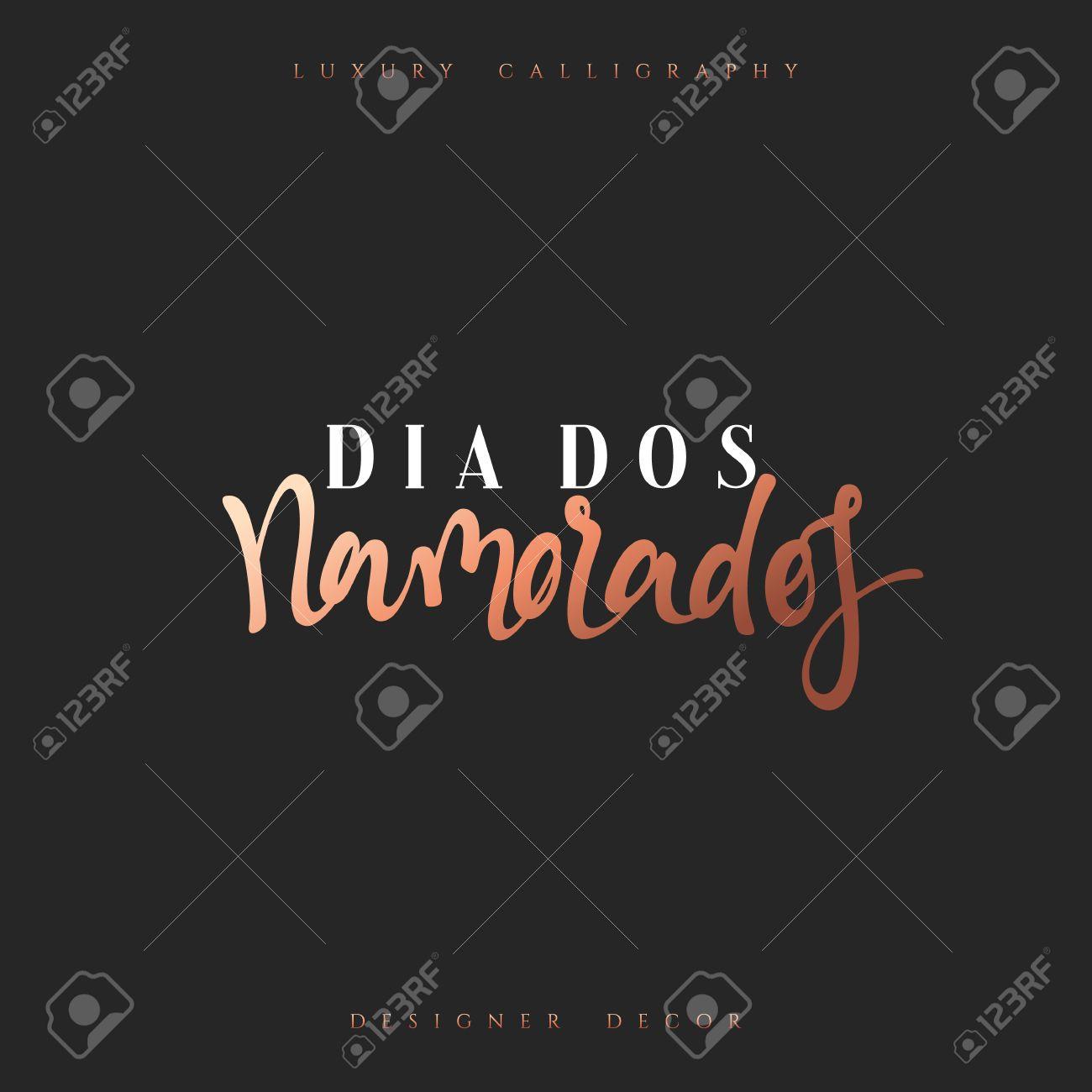 Feliz Dia Dos Namorados Lettering Inscrição Francesa Artesanal Dia Dos Namorados Caligrafia Elegante Moderna E Luxuosa Frase Para Design De