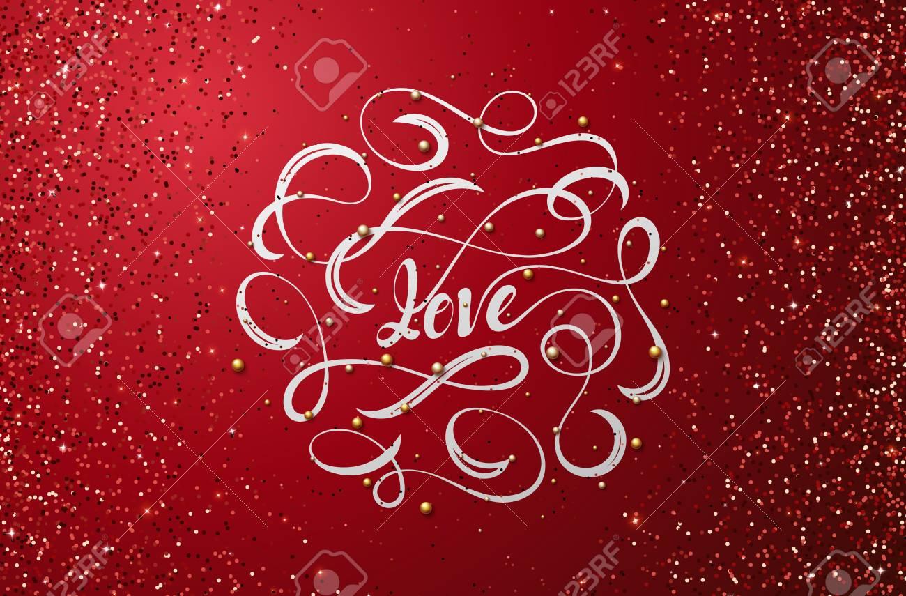 Lettering Love Dia Das Mães Dia Dos Namorados Feriados Frase Para Design De Brochuras Cartazes Bandeiras Web Fonte Do Tipo De Ilustração Do