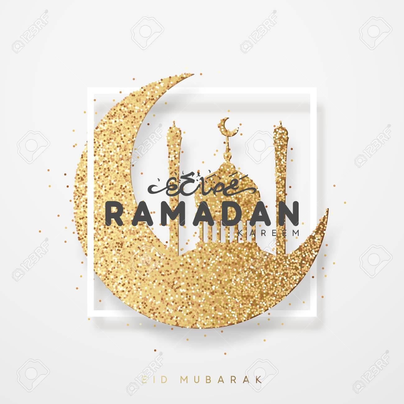 Ramadan greeting card with arabic calligraphy ramadan kareem ramadan greeting card with arabic calligraphy ramadan kareem islamic background half a month with mosques m4hsunfo