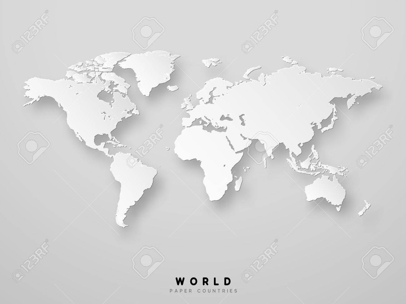 World map detailed design in white color vector illustration vector world map detailed design in white color vector illustration 3d paper gumiabroncs Gallery