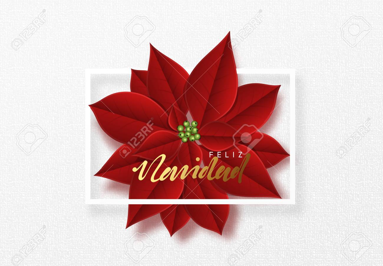 Merry Christmas Background Decorated With Beautiful Red Buds Stock Photo Picture And Royalty Free Image Image 112647695