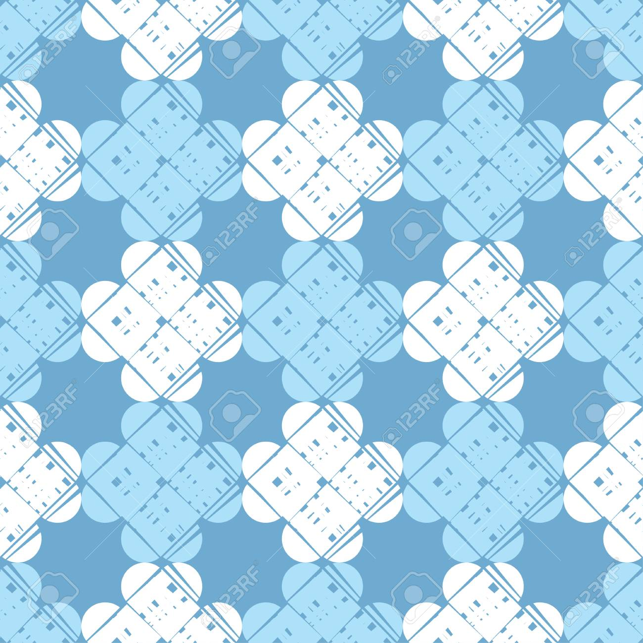 Seamless abstract geometric pattern. Mosaic texture. Brushwork. Hand hatching. Scribble texture. Textile rapport. - 105583520