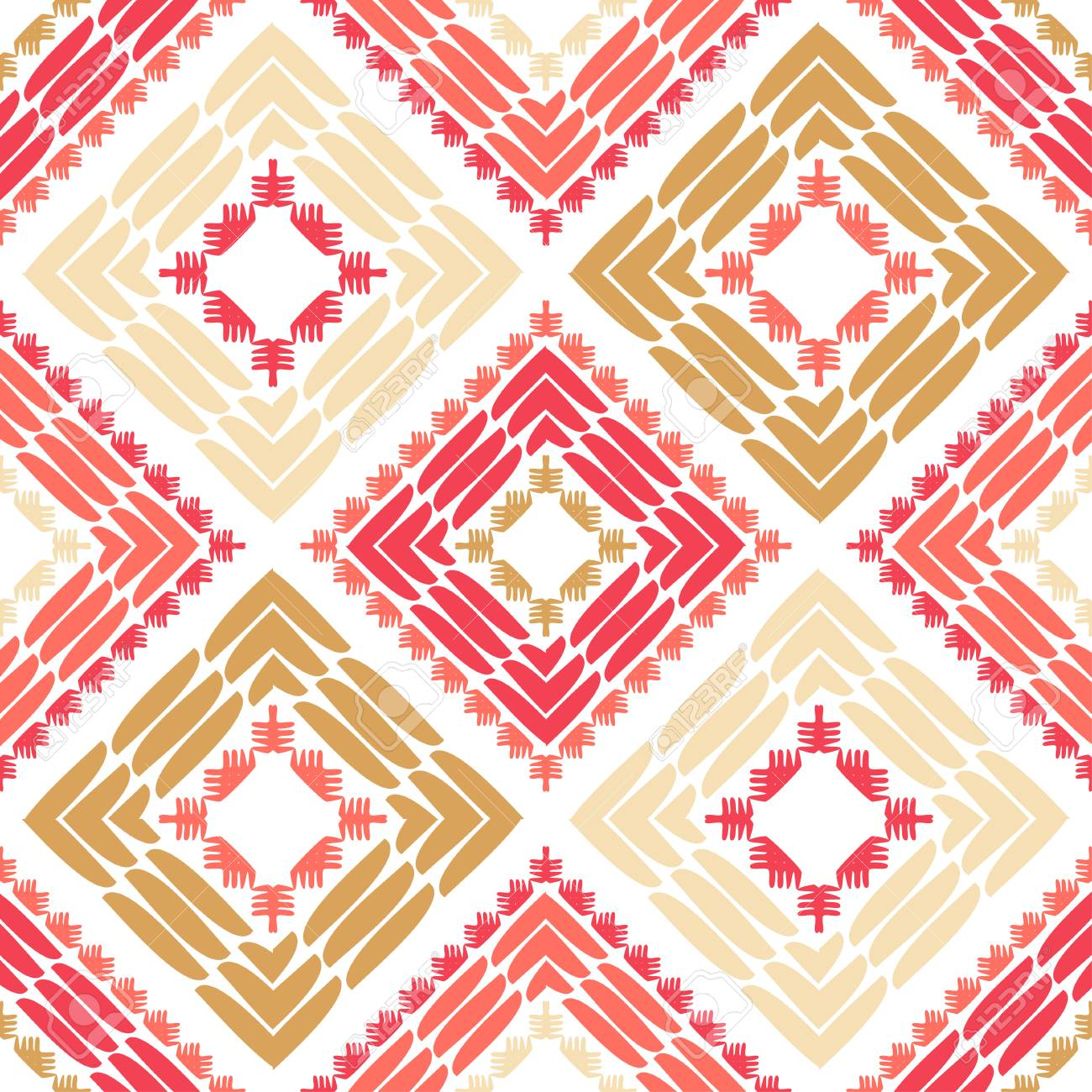 Ethnic boho seamless pattern. Lace. Embroidery on fabric. Patchwork texture. Weaving. Traditional ornament. Tribal pattern. Folk motif. Can be used for wallpaper, textile, wrapping, web. - 139543397