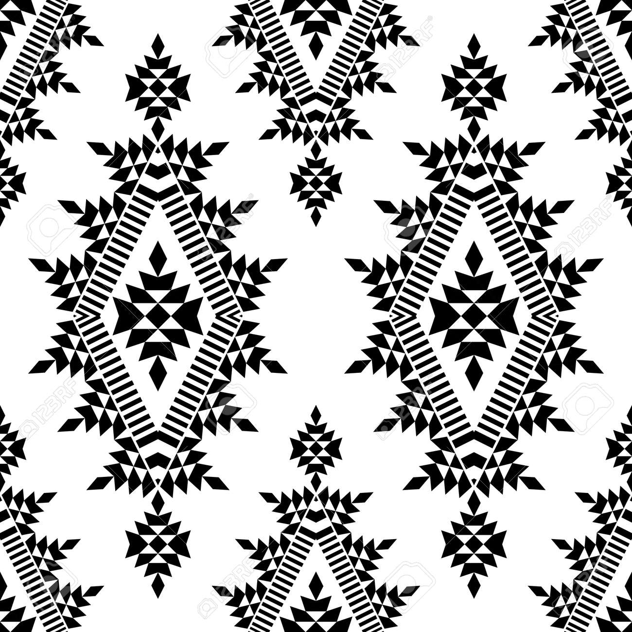 Ethnic boho seamless pattern. Lace. Embroidery on fabric. Patchwork texture. Weaving. Traditional ornament. Tribal pattern. Folk motif. Can be used for wallpaper, textile, wrapping, web. - 139544364
